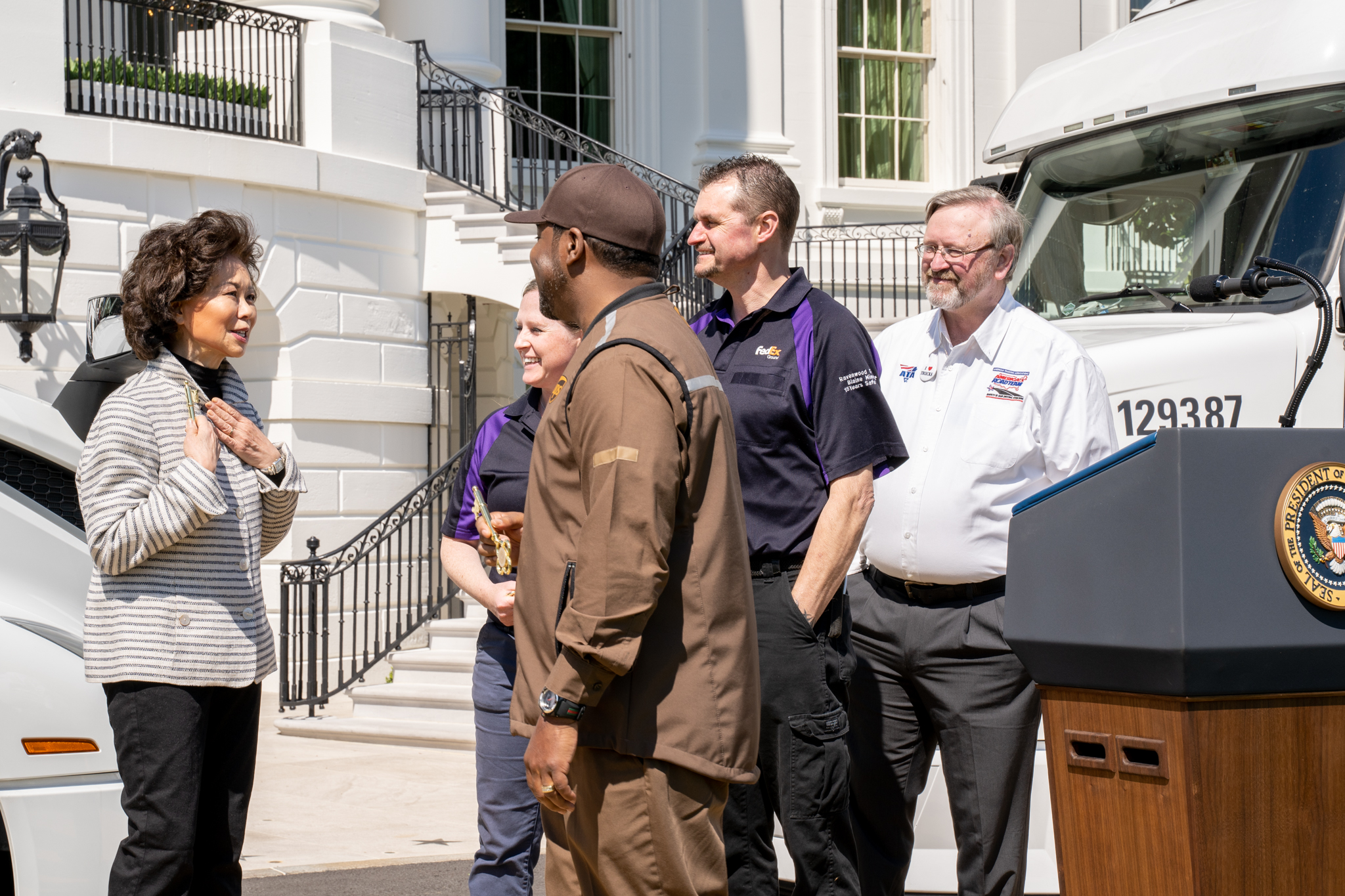 Truckers at the White House