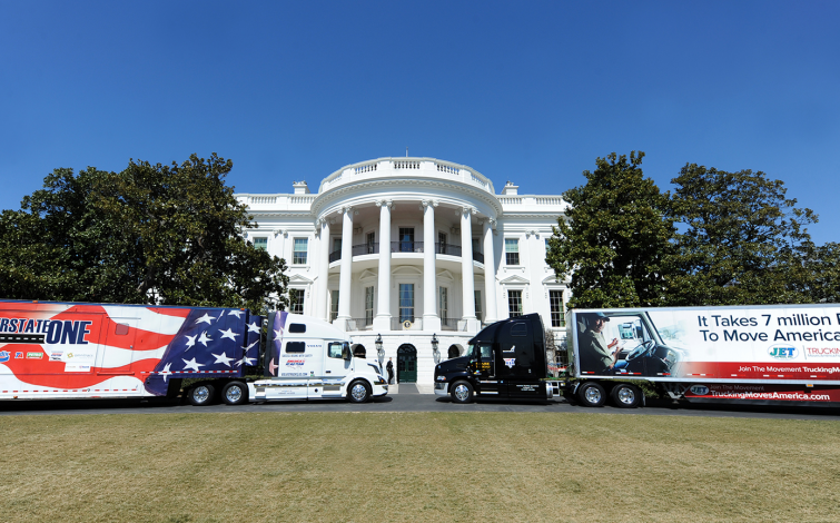 Trucks at the White House